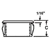 Kabelová průchodka PB Fastener AF0625, 10,3 mm, Ø 18,2 mm, černá