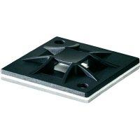 Příchytka HellermannTyton QM30-PA66-BK-C1 151-10912, šroubovací, černá, 1 ks