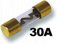 Pojistka auto Glass 30A pozlacená
