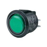 Kolébkový spínač SCI R13-244B-02, 2x vyp/zap, 250 V/AC, černá/žlutá