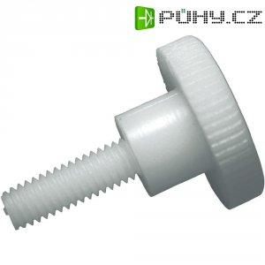 Šroub s rýhovanou hlavou Toolcraft, M5, 10 mm, DIN 465, plast, 10 ks