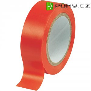 Izolační páska, 19 mm x 25 m, červená