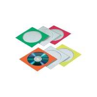 CD/DVD papírové obaly, 100 ks, různé barvy