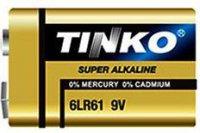 Baterie TINKO 9V(6LR61) alkalická-blistr