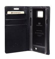 Pouzdro pro Samsung Galaxy Note 2, flipové, Goospery, černé