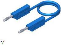 Měřicí silikonový kabel SKS Hirschmann, 1 mm², délka 0,25 m, modrá