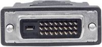 DVI kabel Manhattan, zástrčka 24+1pol., béžový, 1,8 m