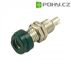 Laboratorní konektor Ø 4 mm SKS Hirschmann BUG 10 (930175104), zás. vest. vert., zelená