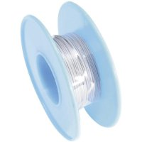 Vinutý drát 93014c383, 1x 0,01 mm², Ø 0,25 mm, 15 m, šedá
