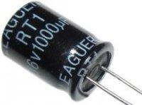 1000u/16V 105° 10x15x5mm, elektrolyt.kondenzátor radiální