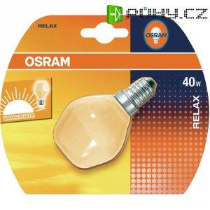 Žárovka kapková Osram Relax PCE14, 40 W, teplá bílá