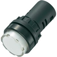 LED signálka AD16-22ES/24V/W, 24 V/DC / 24 V/AC, bílá