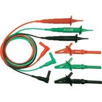 Měřicí kabel zástrčka 4 mm ⇔ měřící hrot Cliff CIH3021, 1,25 m, černá/červená/zelená