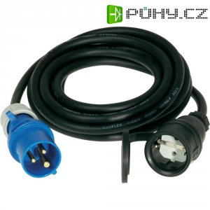 Kabel, 351.001-5-CO, zástrčka CEE-Cara/schuko zásuvka, 230 V, 16 A, IP44