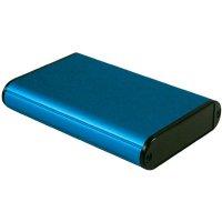 Univerzální pouzdro hliníkové Hammond Electronics, (d x š x v) 100 x 71,7 x 19 mm, modrá