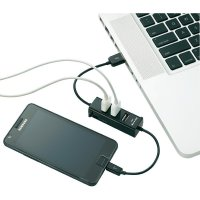 USB 2.0 hub s nabíječkou, 3+1-portový