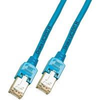 Patch kabel, CAT 5e F/UTP, RJ45, vidlice ⇔ vidlice, modrá, 1 m