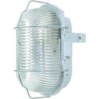 ISO svítidlo s mřížkou, 60 W, E27, IP44, oválné, šedá