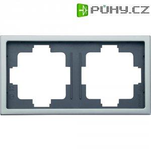 Dvojitý krycí rámeček INOX