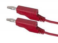 Propojovací kabel 0,75mm2/ 1m s banánky červený