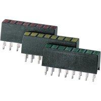 LED řádek 8nás. Signal Construct, ZAQS 0807, 4 mm, červená