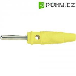 Banánkový konektor 4 mm, BKL Electronic 072151-P, žlutá