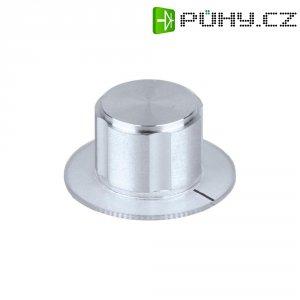 Kovový knoflík Mentor 5572.6110, 6 mm, stříbrná