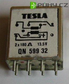 Relé QN59932 13,5V/0,067A bistabilní, Tesla Pardubice