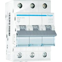 Jistič C Hager MCN316, 16 A, 3pólový, 230/400 V/AC