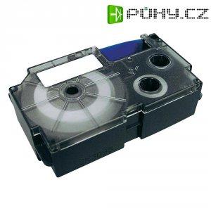 Páska do štítkovače Casio KR-12WE (XR-12WE1), 12 mm, XR, 8 m, černá/bílá