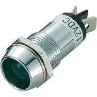 LED signálka SCI R9-86L-01-WG, vnitřní reflektor 16 mm, 12 V/DC, zelená