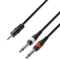 Kabel jack (M) 3,5 mm / 2x jack (M) 6,3 mm