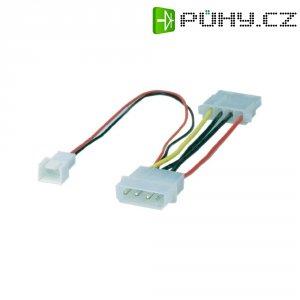 Adaptér Molex pro PC ventilátory Goobay, 0,1 m