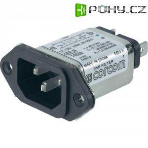 Síťový filtr TE Connectivity, 6609006-2, 2 x 10 mH, 250 V/AC, 1 A