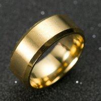 Prsten MANLIKE zlatá barva 65mm, pánský