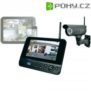 """Bezdrátová venkovní kamera s TFT monitorem 7\"""" dnt QuattSecure IP Starterset, 2"""