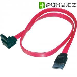 Kabel SATA L-typ, zásuvka ⇔ zásuvka 90°, 0,5 m, Digitus