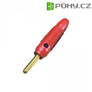 Banánkový konektor 4 mm, BKL Electronic 072149/G, pozlacený, červená