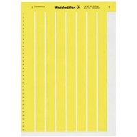 Štítky pro značení kabelů Weidmüller LM MT300 56X22 GE (1686421687), žlutá, 1 arch