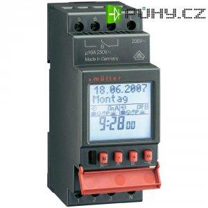 Digitální spínací hodiny na DIN lištu Müller SC 28.12 pro, 230 V/AC