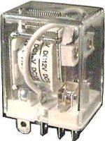 Relé JQX-76F 12V 2x přepínací kontakt 230VAC/10A