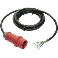 Síťový kabel AS Schwabe 70977, CEE zástrčka/otevřený konec, 1,5 mm², 3 m, černá