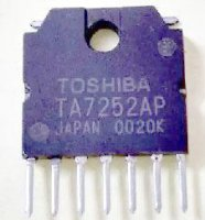 TA7252AP - nf zesilovač 5,9W/4ohm, Ucc=13V, SIP7