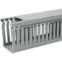 Elektroinstalační lišta OBO Bettermann, 6155421, 100x100 mm, 2 m, šedá
