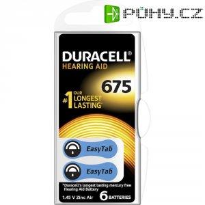 Knoflíková baterie ZA 675, zinek-vzduch, Duracell DA 675, DUR077580, 6 ks