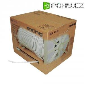 Koaxiální kabel Axing SKB08904, 75 Ω, stíněný, bílá, 250 m