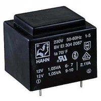 Trafo DPS 1,9VA 1x10V(0,19A) 27,5x32,5x23,8 HAHN
