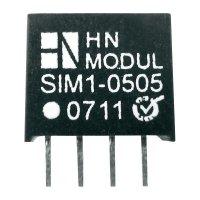DC/DC měnič HN Power SIM1-1215-SIL4, vstup 12 V, výstup 15 V, 66 mA, 1 W