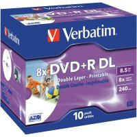 Verbatim DVD+R DL 8,5GB 8X 10 ks JC PRINT