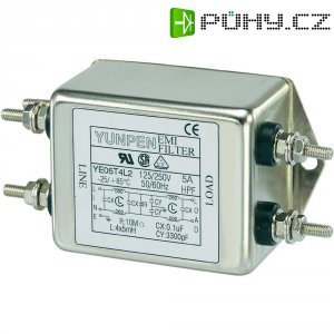 Odrušovací filtr Yunpen YE05T4L2, 250 V/AC, 250 V/AC, 5 A, 5 A